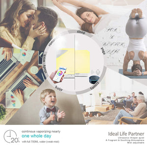 Smart Wi-Fi Essential Oil Diffuser- App Control Compatible with Alexa