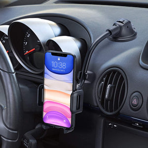 Car Phone Mount, Dashboard Windshield Car Phone Holder with Long Arm