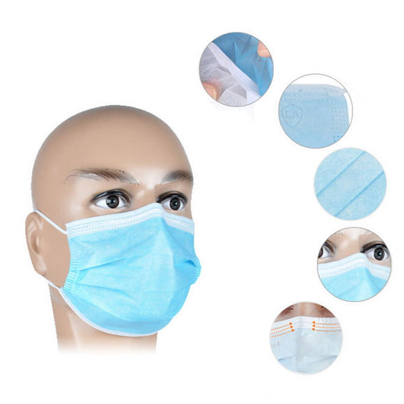 20Pcs Disposable Masks Mouth Face Mask Dust-Proof Personal Protection COD