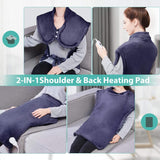 Electric Heating Wrap for Neck and Shoulders, Dry & Moist Heat Therapy