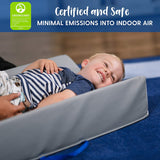 ECR4Kids Ultra-Soft Daycare Baby and Infant Contoured Changing Pad, Non-Slip Bottom, Built-in Handle Easy to Transport Travel - Primary, Assorted, (Model: ELR-029)