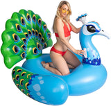 Inflatable Peacock Pool Float, Fun Beach Floaties, Swim Party Toys, Pool Island, Summer Pool Raft Lounge for Adults & Kids