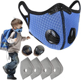 Kids Dust Mask Filter Sports Face Masks Activated Carbon Dustproof Cover for Boys and Girls