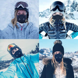 Balaclava Ski Full Face Breathable Waterproof Balaclava Sports Face Scarf Bandanas with 2 Breathing Hole Thermal Windproof Winter Neck Gaiter Warmer for Men Motorcycle Snowboard Motorbike Ski Cycling