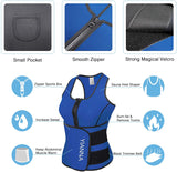 Sweat Neoprene Sauna Suit Tank Top Vest with Adjustable Shaper Waist Trainer Belt