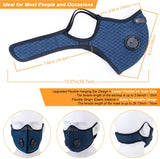 Face Mask with Filters - Reusable Washable Adjustable Face Mask for Running, Cycling, Outdoor Activities