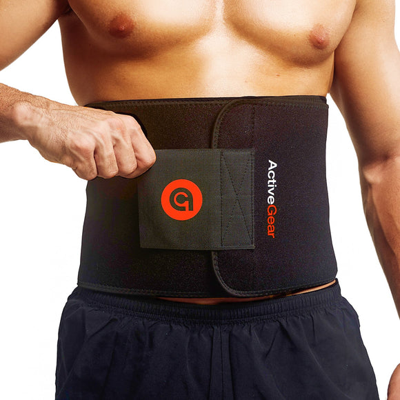 ActiveGear Waist Trimmer Belt for Stomach and Back Lumbar Support, Medium: 8