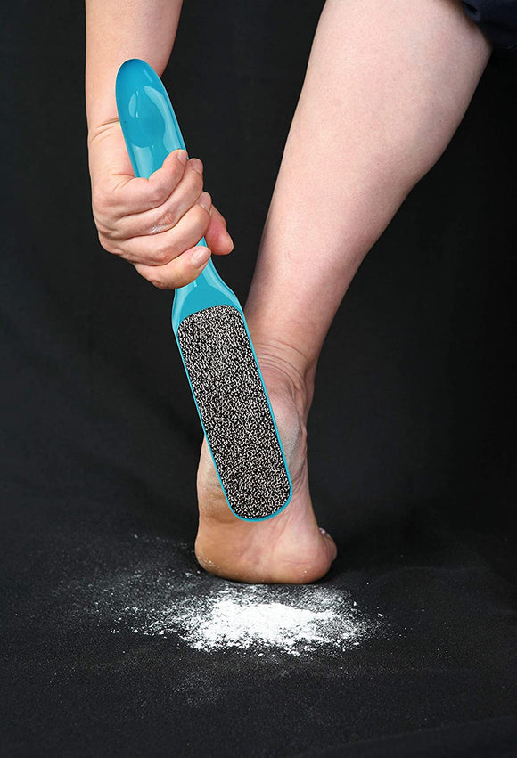 2-Sided Callus Remover – Hypoallergenic Foot Peel in Foot Spa Quality – Premium Nickel Foot Scrubber and Foot File