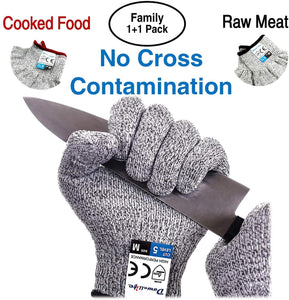 Cut Resistant Gloves Food Grade Level 5 Protection, Safety Kitchen Cuts Gloves for Oyster Shucking, Fish Fillet Processing, Mandolin Slicing, Meat Cutting and Wood Carving.