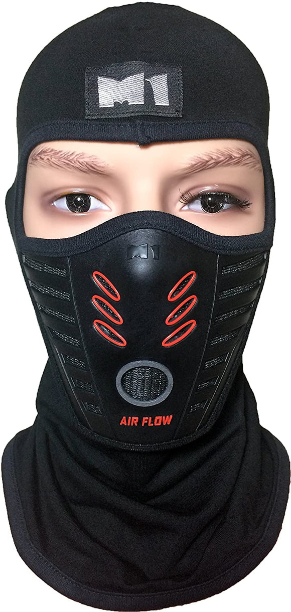 Full Face Cover Balaclava Protection Filter Rubber Ski Dust Mask