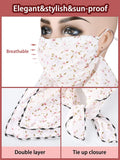 6 Pieces Sun Protection Face Covers Balaclava Breathable Neck Gaiters for Women