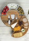 Cutting Board Set - Charcuterie Board Set and Cheese Serving Platter. Ceramic Bowl and Wine Server Plate.