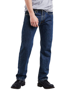 Levi's Men's 505 Regular Fit Jeans, Dark Stonewash, 34W x 32L