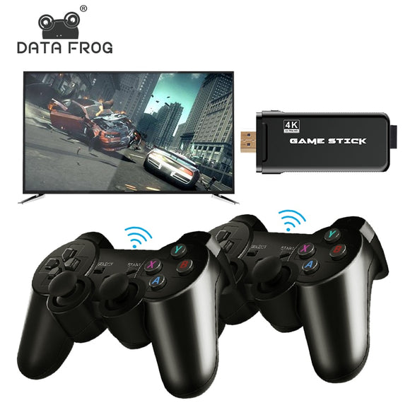 4K HD Video Game Console 2.4G Double Wireless Controller For PS1/GBA Classic Retro TV Game Console 64GB 10000 Games