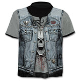 Summer NewFunny skull 3d T Shirt Summer Hipster Short Sleeve Tee Tops Men/Women Anime T-Shirts Homme Short sleeve tops