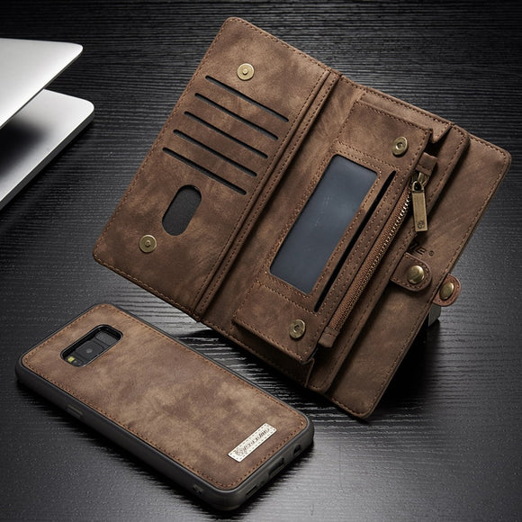 For Samsung Galaxy S8 S7 S9 S10 S11 S20 A20 A30 A40 A50 A70 A80 A20e Cover Case Luxury Leather Flip Magnetic Wallet Phone Bag