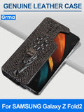 Luxury Genuine Leather Protective Cover for Samsung Galaxy Z Fold2 Fold 2 5G SM-F9160 Case Side Loading Shockproof Cover