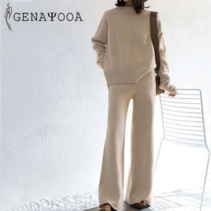 Genayooa Winter Tracksuit 2 Piece Pant Suits For Women