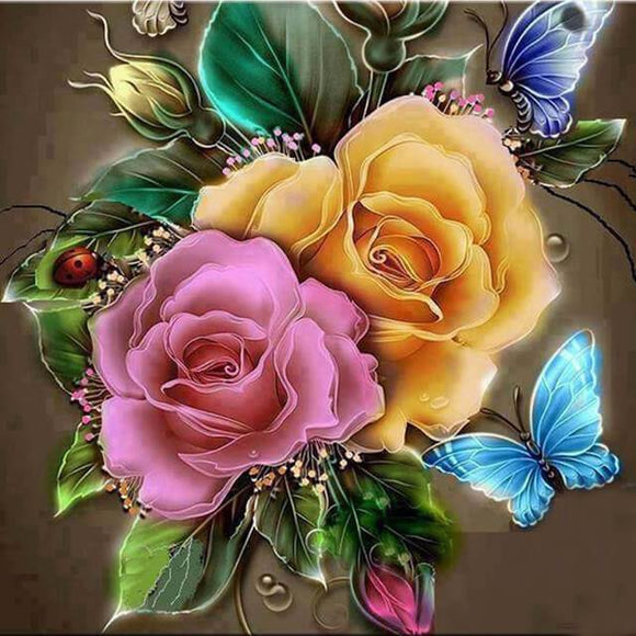 Butterfly Rose DIY Diamond Painting