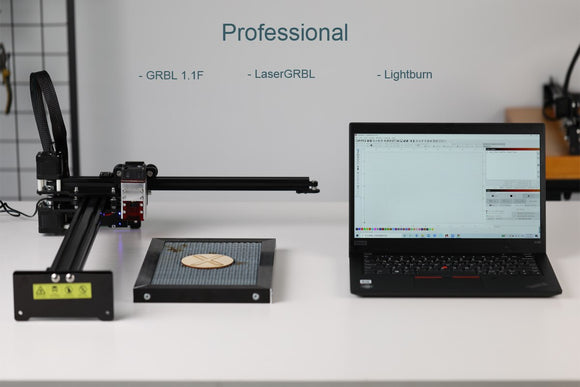 Professional Laser Engraving Machine, Laser Cutter - Lightburn - Bluetooth - App Control