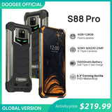 IP68/IP69K DOOGEE S88 Pro Rugged Mobile Phone 10000mAh telephones Helio P70 Octa Core 6GB RAM 128GB ROM smartphone Android 10 OS