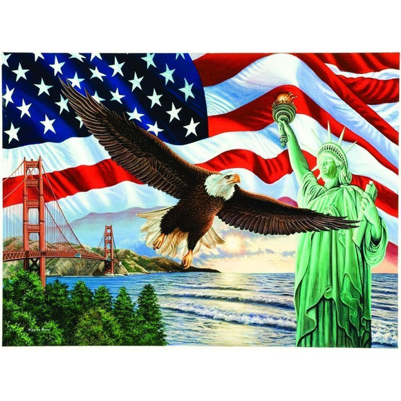 The Goddess of Liberty and the Eagle DIY Diamond Painting