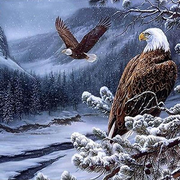 The Eagle Flying on the Snow Mountain DIY Diamond Painting