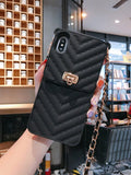 Luxurious Portable with Metal lanyard Phone Case For IPhone 12 mini 12 Pro Max 11 Pro X XR XS Max Cover For iphone 7 8 Plus SE2