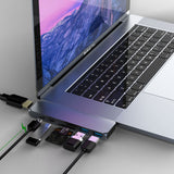 Mosible USB 3.1 Type-C Hub To HDMI Adapter 4K Thunderbolt 3 USB C Hub with Hub 3.0 TF SD Reader Slot PD for MacBook Pro/Air 2019