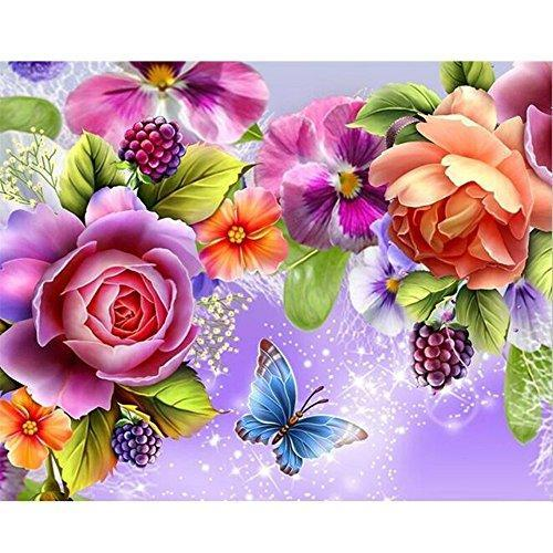 Peony Flower Hummingbird DIY Diamond Painting
