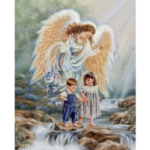 Angel Mom And Children