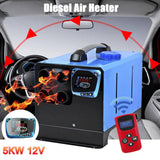 Parking Heater All in One 5KW 12V/24V Car Heater Air Diesel LCD Monitor with Remote Control Air Heater for Car Camper Van Boats