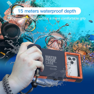 Professional Diving Phone Case For Samsung Galaxy S6 S8 S9 S10 Plus S10e Coque 15M Waterproof Depth Cover For Galaxy Note 8 9 10