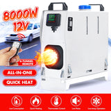 Warmtoo 8KW 12V Car Heater All in One Diesel Air Heating Auxiliary Heating Machine Heater Warmer For Motorhome Trucks Boats