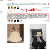 Winter Women Hats Teddy Velvet Warm Ear Protector Fisherman Hat Accessories Vintage Lamb Velvet Cap Lovely Plush Bucket Hat