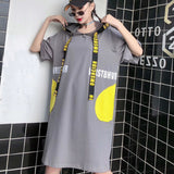 Print Letter Pleated Dress Fashion Plus Size Pattern 2020 Spring Elegant Mesh Patchwork Small Fresh Casual Dress