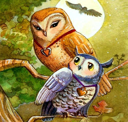 Love Mother And Daughter Owl DIY Diamond Painting