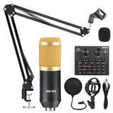 Microphone Studio Recording Kits Condenser Microphone for Computer Phantom Power