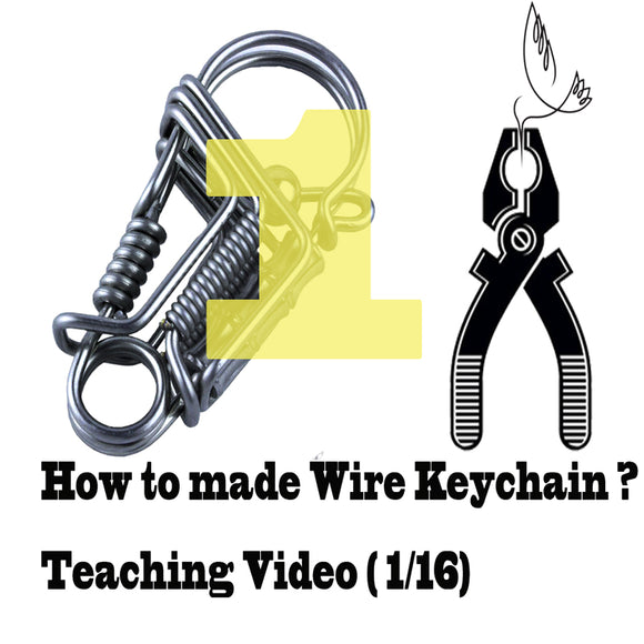 Stainless steel wire handmade bird keychain Video tutorial (1-16) keychain tools