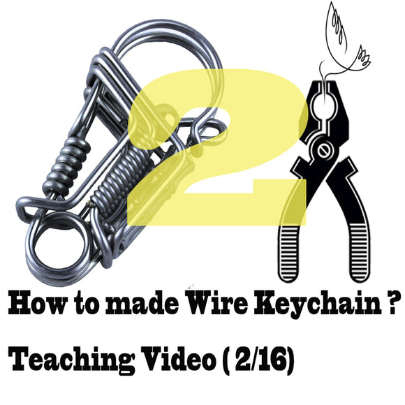 Stainless steel wire handmade bird keychain Videos of Teaching (2-16) keychain tools