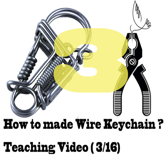 Stainless steel wire handmade bird keychain Videos of Teaching (3-16) keychain tools