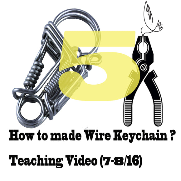 Stainless steel wire handmade bird keychain Videos of Teaching