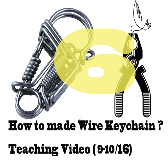DIY wire handmade bird keychain Videos of Teaching (9-10/16) keychain tools
