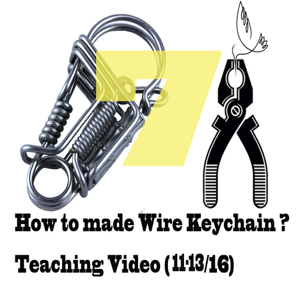 DIY wire handmade keychains Videos of Teaching (11-13/16) keychain tools