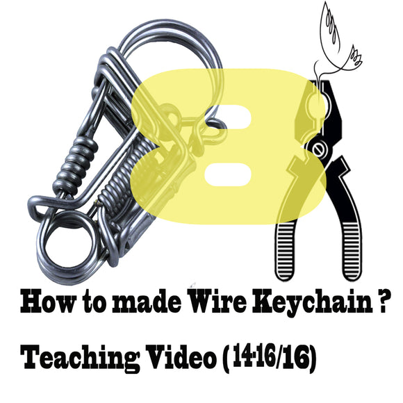 DIY wire handmade keychains Videos of Teaching (14-16/16) keychain tools