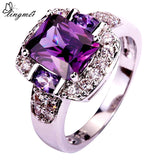Fashion Charming Nice Women Party Jewelry Purple & White CZ Silver 925 Ring Size 6 7 8 9 10 11 12 13 Wholesale Gifts