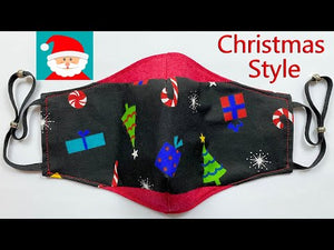 Festive Christmas Face Mask Easy Pattern Sewing Tutorial | How to Make a Face Mask | Mascarilla
