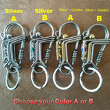 Spring Car Key Chain Spring Rope Keyring Carabiner Snap Clips Hook Key Chain Outdoor Camping Travel Kits Accessories