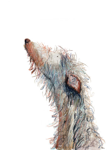 Made by harriet painting, hairy dog painting