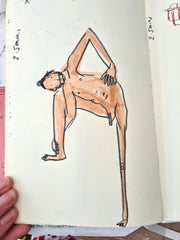 Life drawing, Made by Harriet, Man yoga stretch